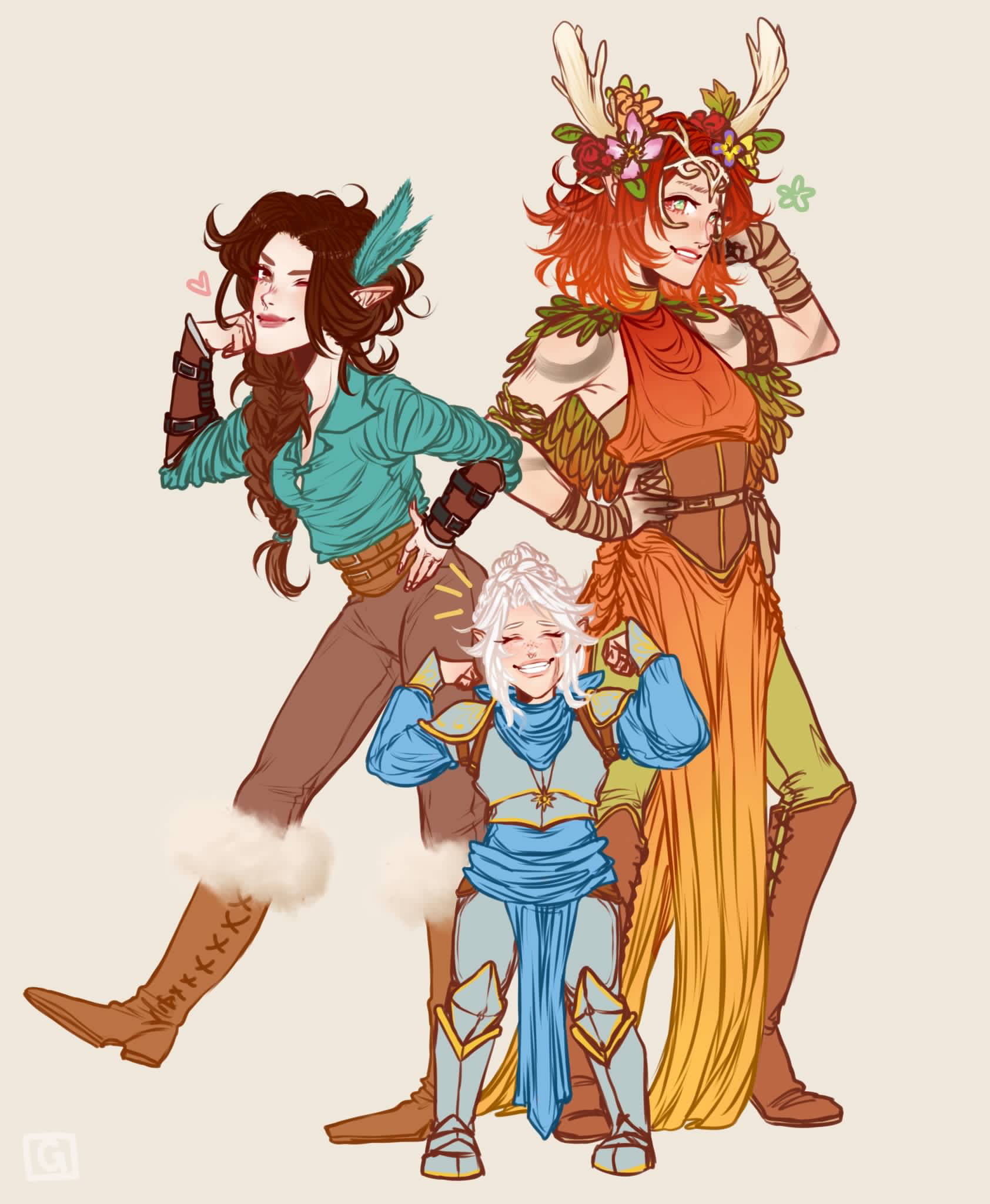 Keyleth, Vex, and Pike from Vox Machina and Critical Role