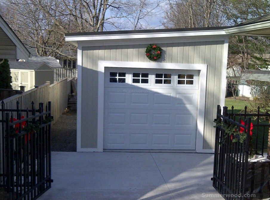 Need Some Design Ideas For Winter Summerwood 12ft X 28ft Urban Garage Might Be One Of The Option Garage Garage Exterior Garages