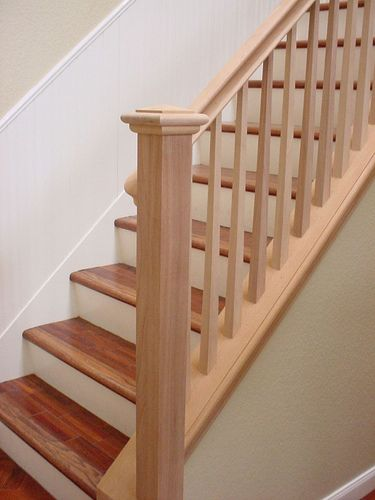 Best Mahogany Stair Rail Square Tapered Balusters By Sdstair 400 x 300