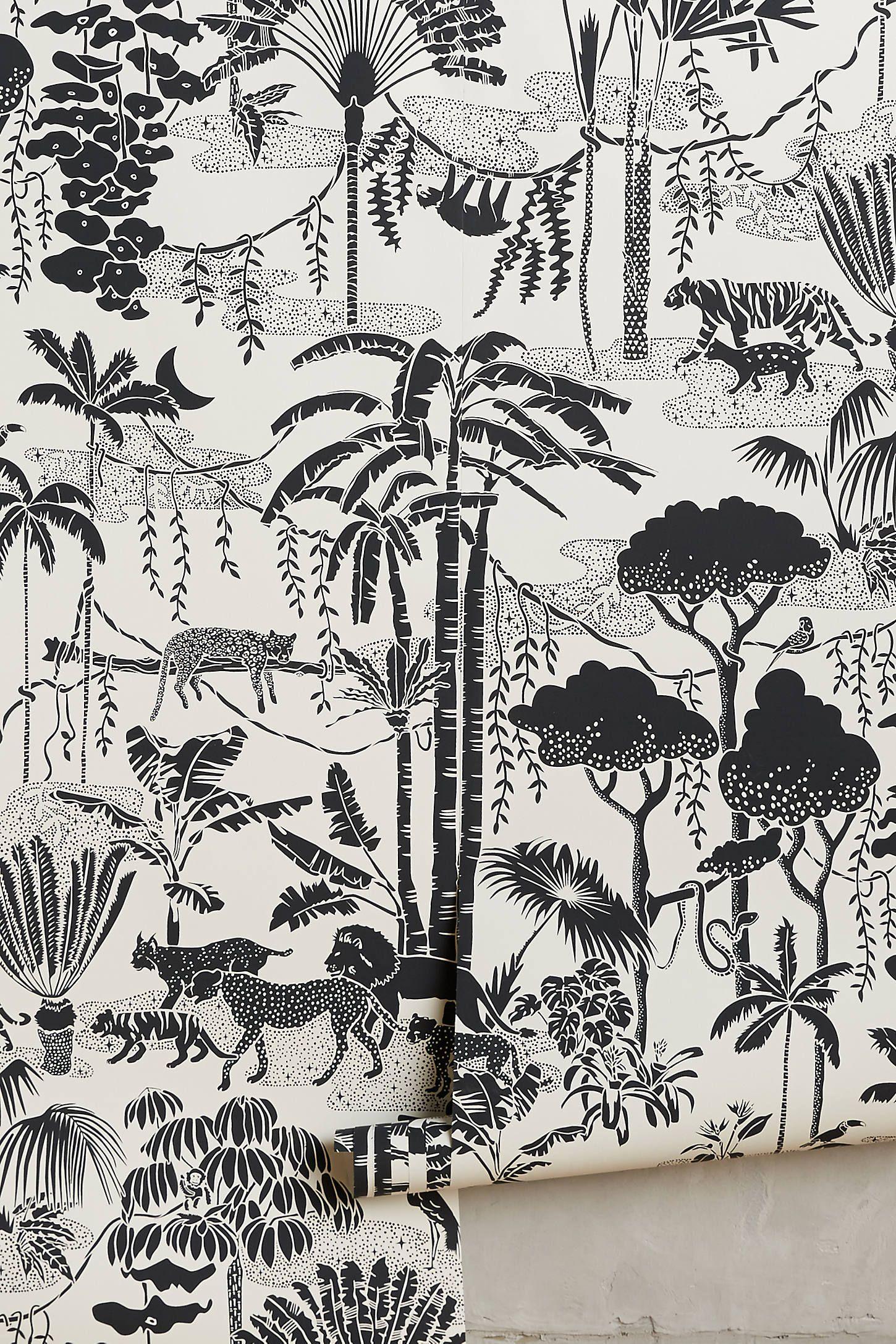 Jungle Dream Wallpaper in 2020 | Jungle wallpaper, Print ...