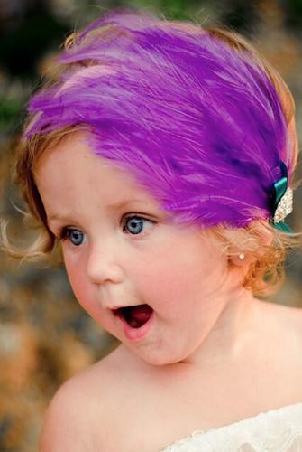 CPRHBB001 Purple Feather Headband