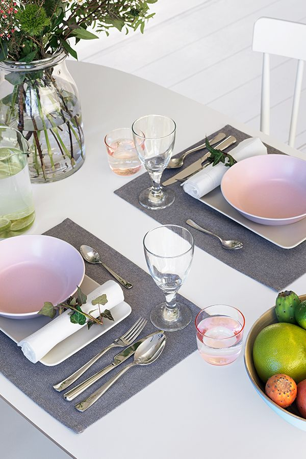 A Lovingly Decorated Table Makes People Happy And Hungry DINERA Plates Guarantee Fresh Touches Of Colour