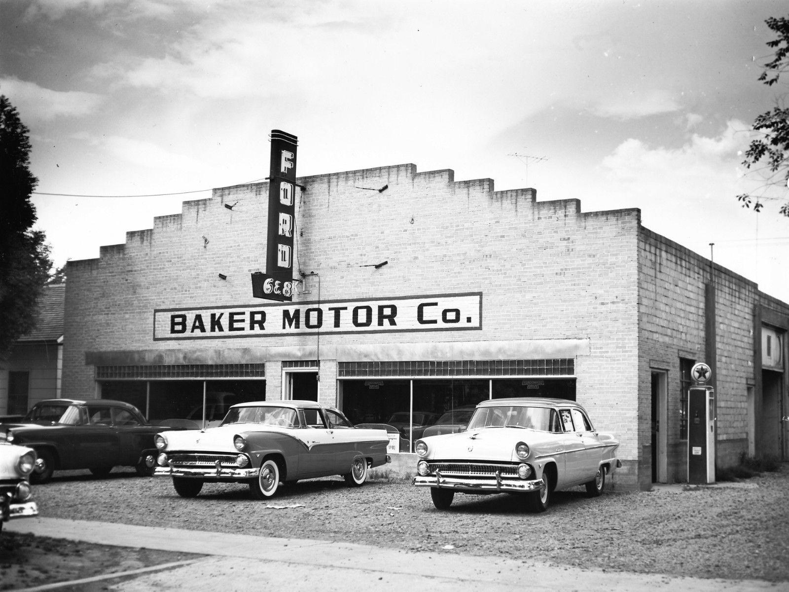 Baker Motor Co Ford Dealership C 1955 Vintage