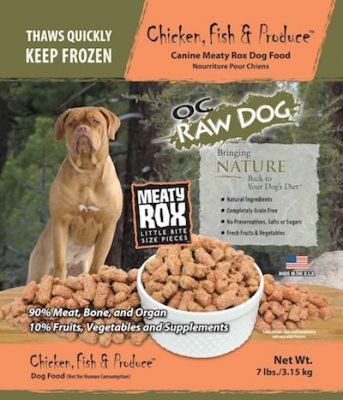 Recalled Oc Raw Dog Chicken Fish Produce Freeze Dried