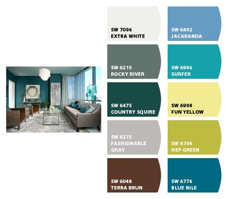 Living Room Paint Colors From Chip It By Sherwin Williams I Like The Blue Nile White Color Top Left May Be Good For Hallway Neutral