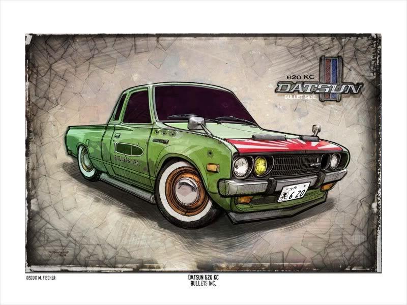 datsun 510 mancave decor Car art print race car nissan wall art vintage
