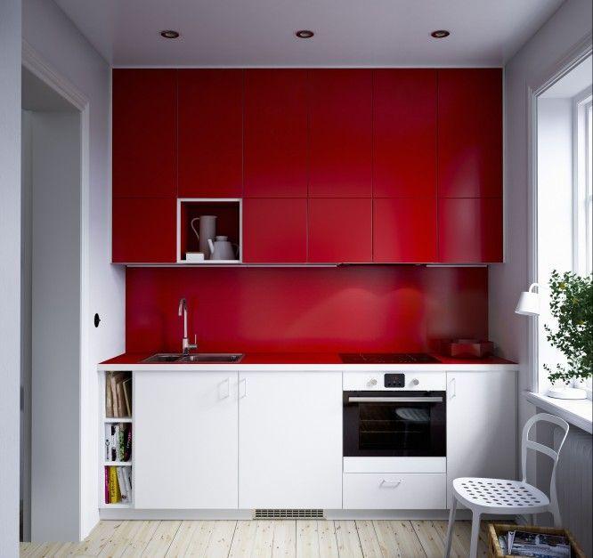 Urzadzamy Czerwona Kuchnia Jeden Z Najpopularniejszych Kolorow Mebli Meble Com Pl Ikea Kitchen Units Stylish Kitchen Kitchen Interior