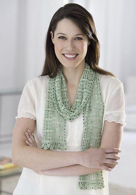 Ravelry Crochet Beaded Cobweb Lace Scarf Pattern By Joan Barnett