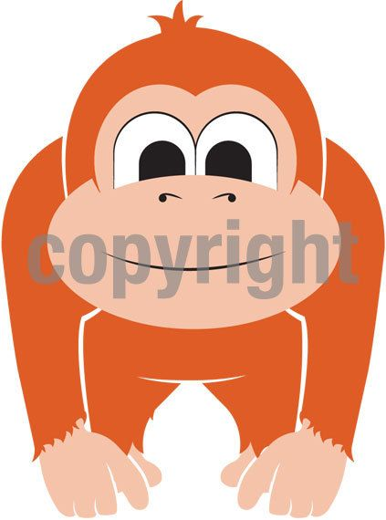 Gorilla Monkey Clipart Commercial Use Safari Animals Etsy Safari Baby Animals Gorilla Illustration Animal Clipart