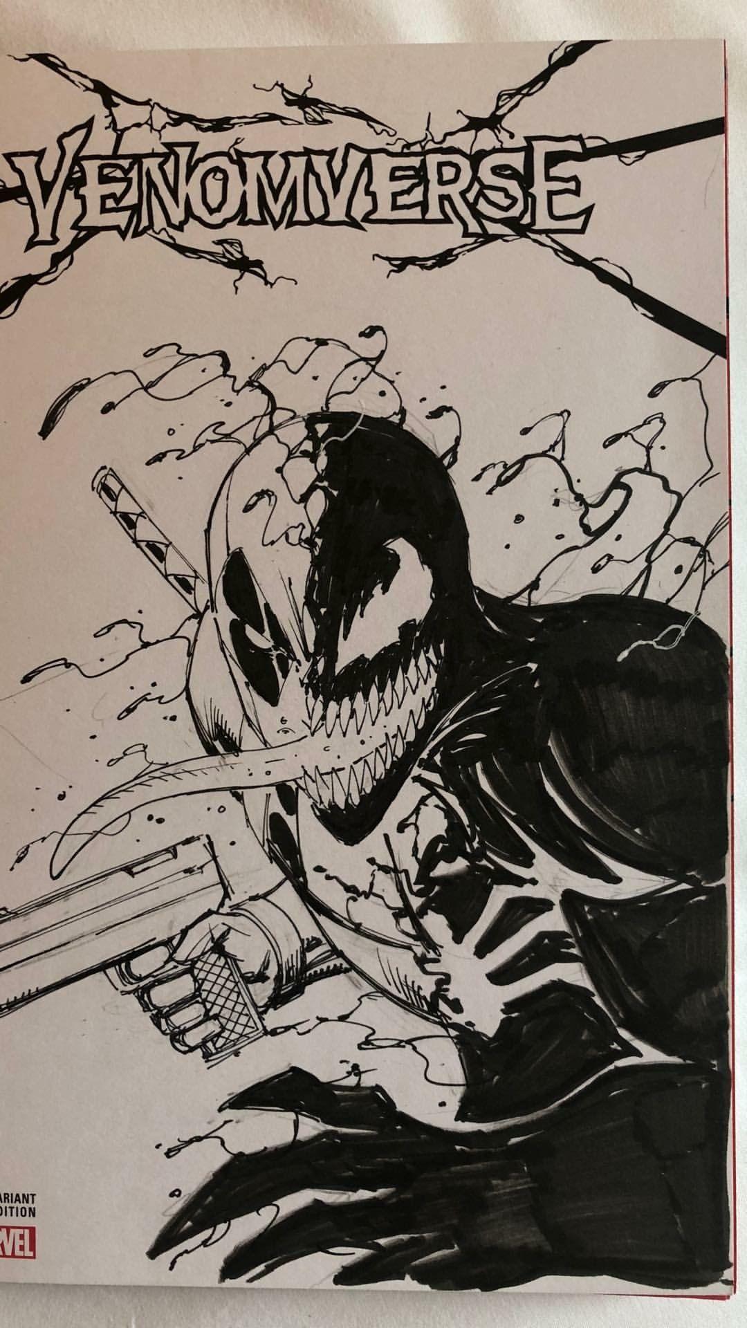 Venompool By Rob Liefeld Rob Liefeld Book Artwork Comic Book Artwork