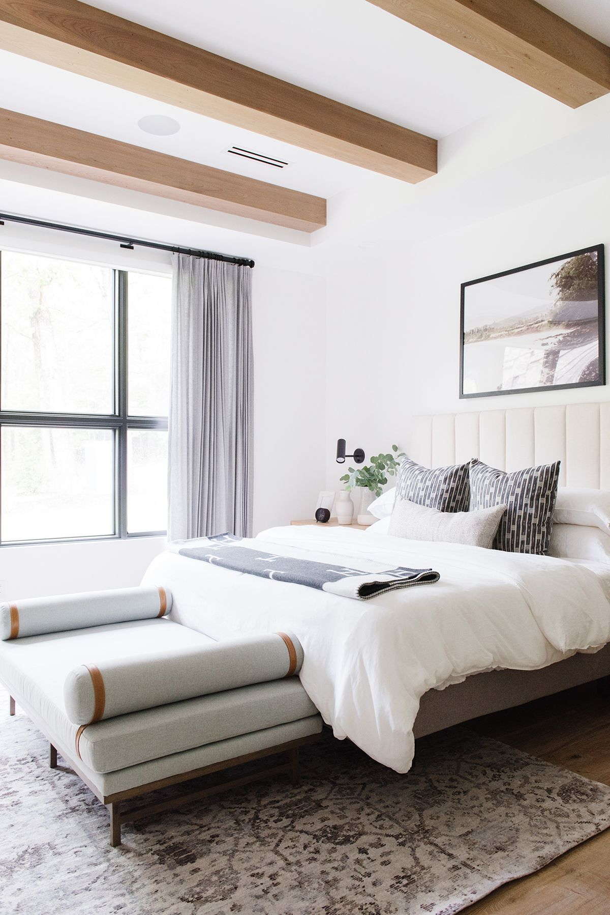 Modern Lake House Photo Tour: The Bedroom Wing