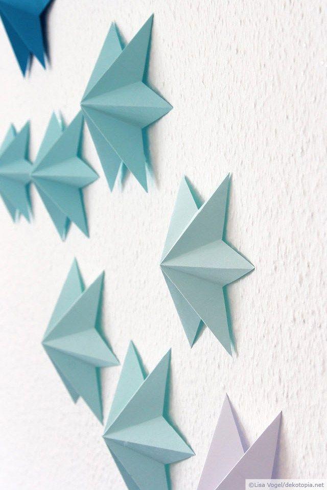 3D Papiersterne #3dsterneauspapier