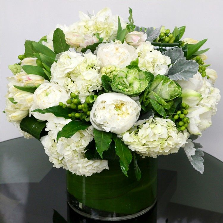 White and green chic vase wedding flowers pinterest miami beach fl flower delivery mightylinksfo Image collections