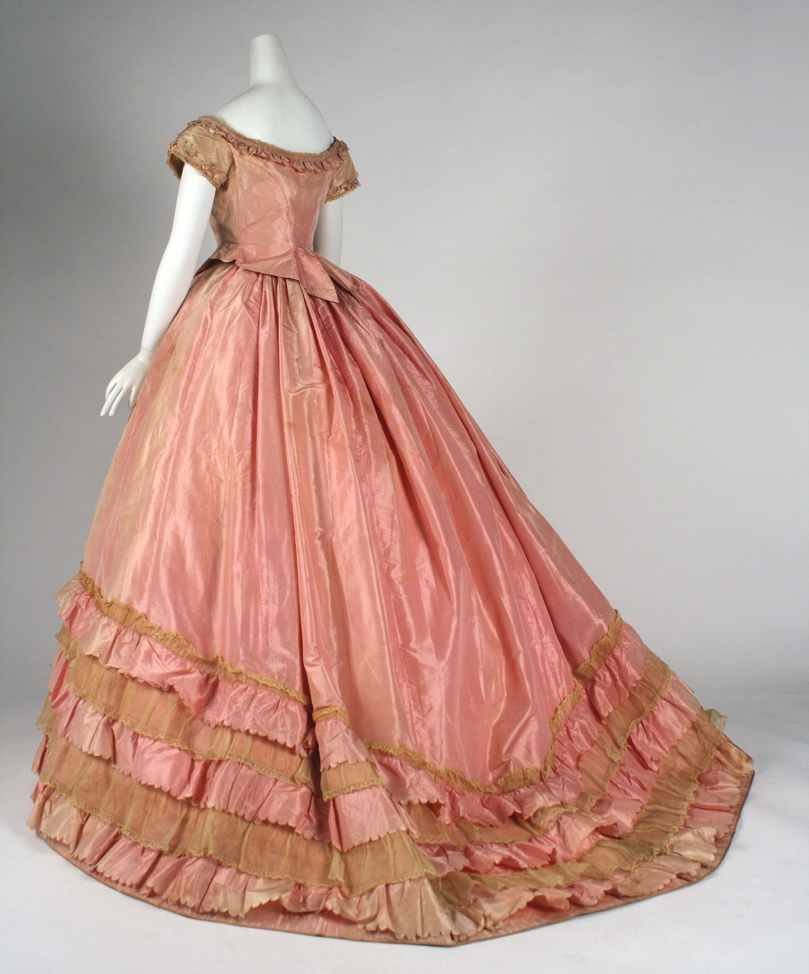 Dress: ca. 1866-1868, American, silk.