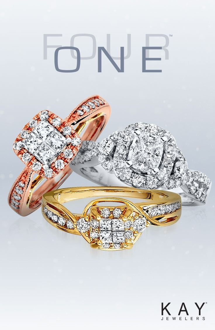 Discover The Beauty Of The Four One Engagement Ring Collection