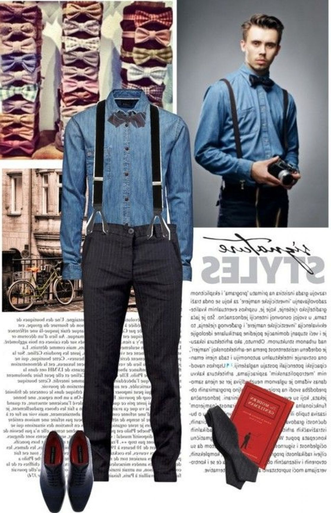 Suspenders Bow Ties The Kwas On Polyvoremen39s Fashion