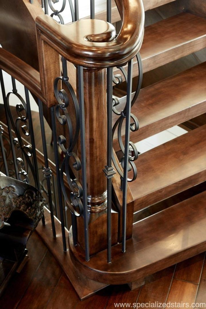 Stairs | Grand Staircase | Traditional | Open Rise Staircase | Custom  Railing | Turned Newel