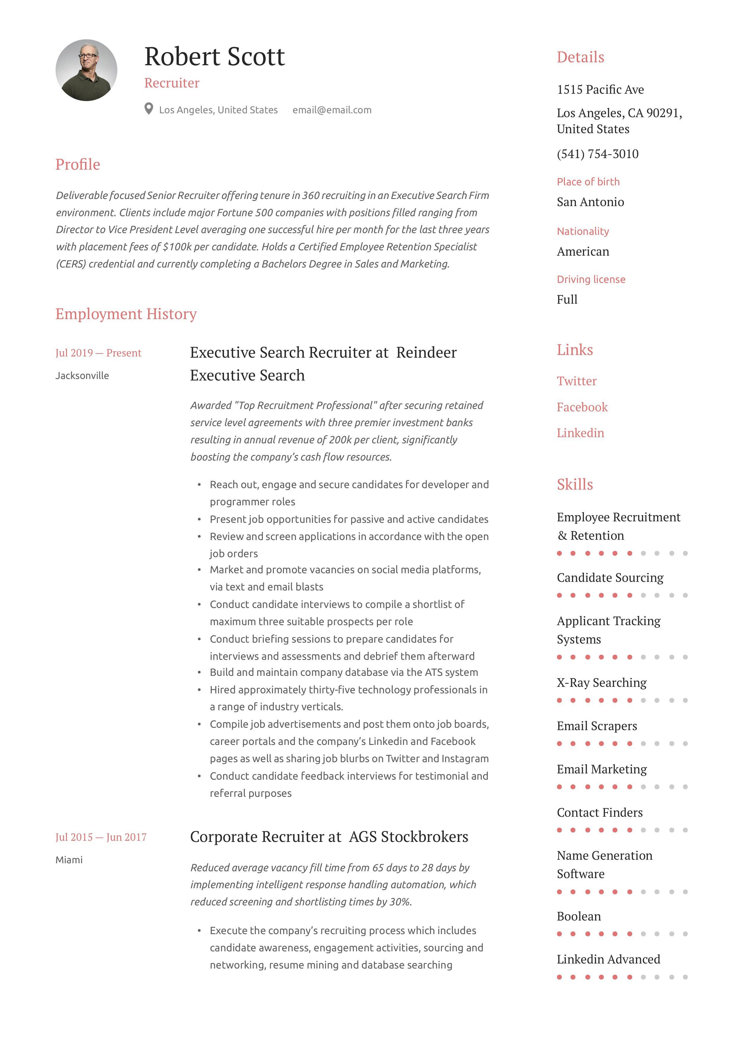 Recruiter Resume Writing Guide In 2020 Resume Recruiter