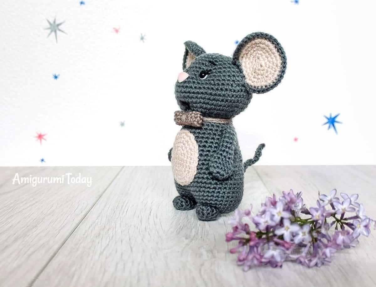 Ratón de ganchillo patrón de amigurumi gratis de amigurumi today