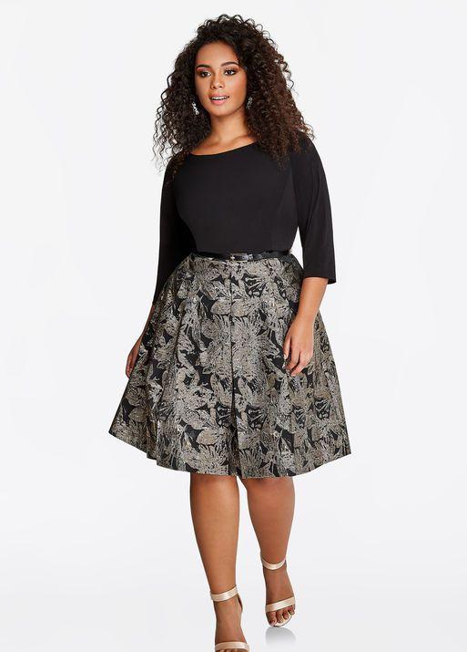 Fashion Bug Jacquard Dress Fashionbug Plussize Dress Www