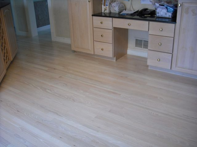 Red Oak Bleached White Stain 6 Coats