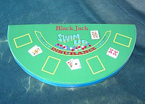 Swimline Blackjack Table Game With Waterproof Cards