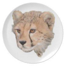 Cute Cheetah Cub Dinner Plates