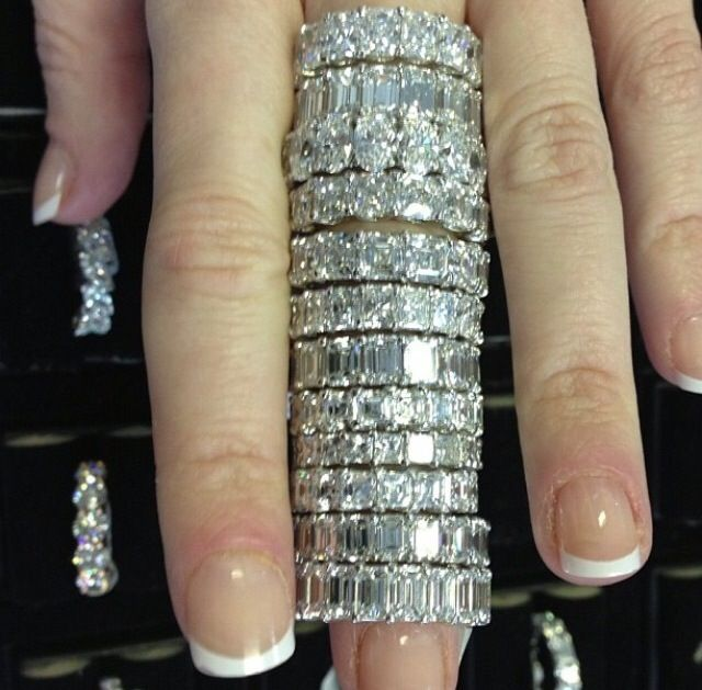 Pin By Posie Thomas On Diamonds Are A Girls Best Friend Eternity Band Diamond Jewelry Diamond Bands