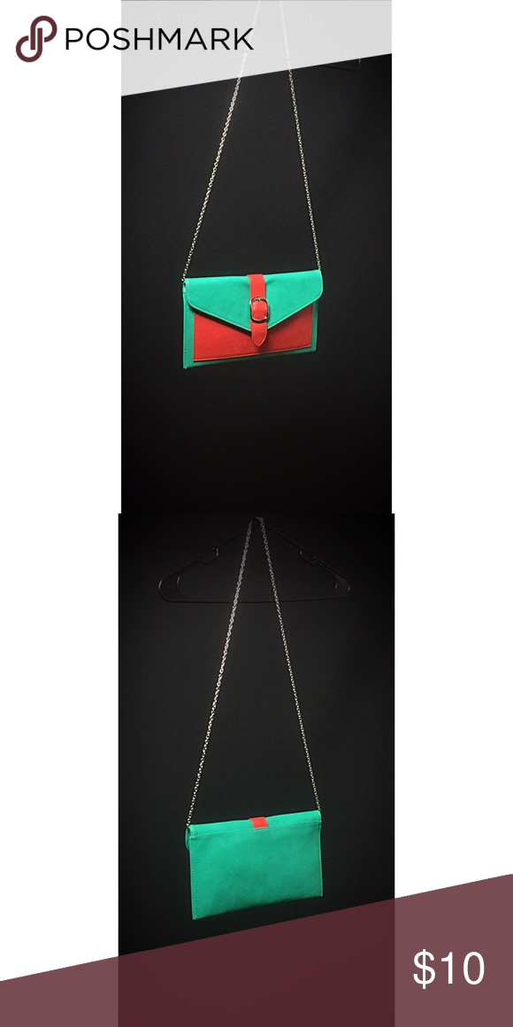 Stylish Clutch/Side Bag Teal/Red Vintage Accessories