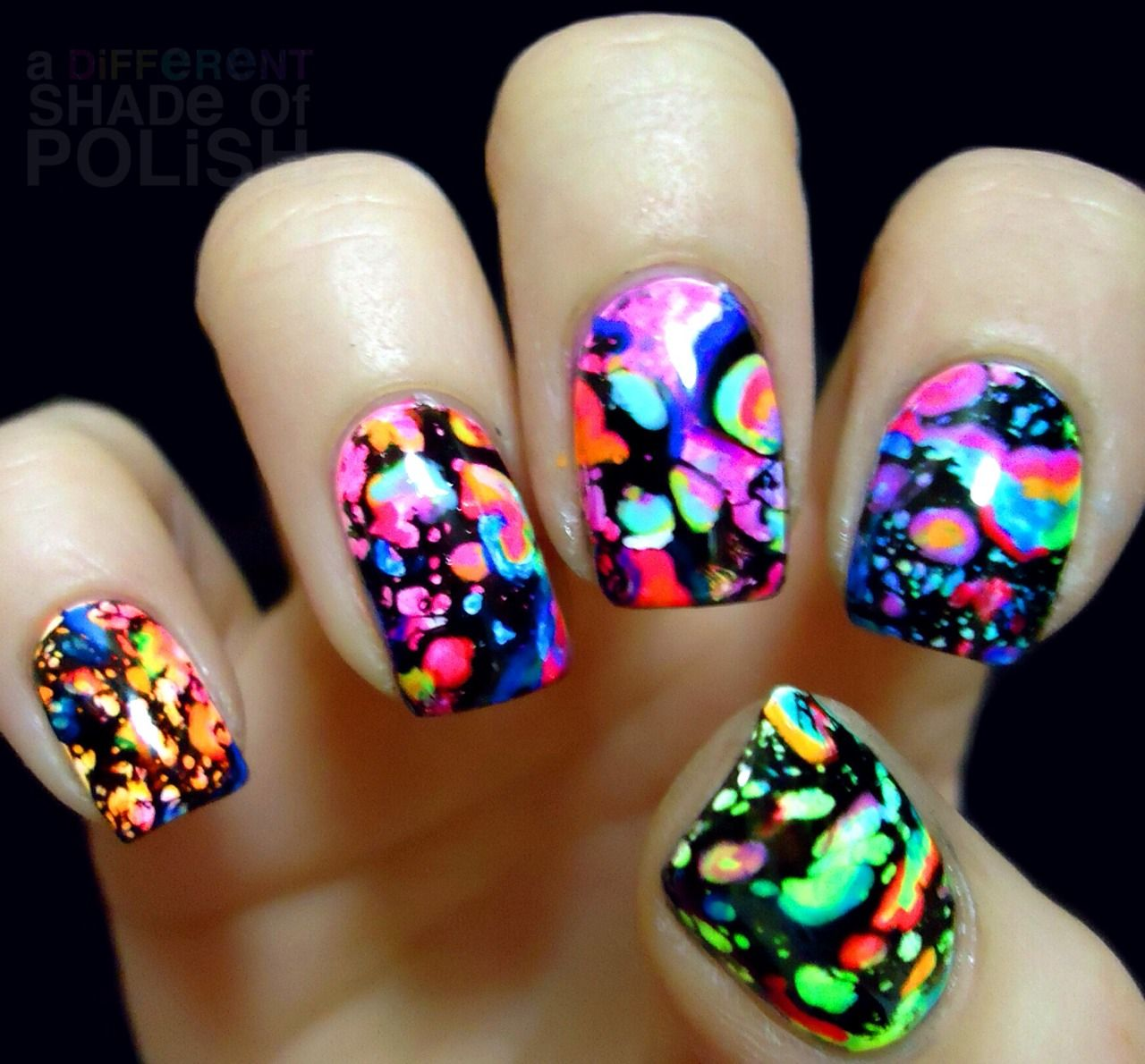 Second addition to my acrylic paint mani. I added some accents to ...