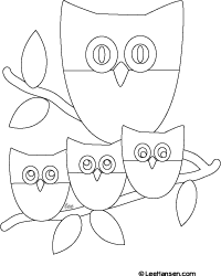 Simple Owl Family Coloring Sheet Color Me Happy Pinterest