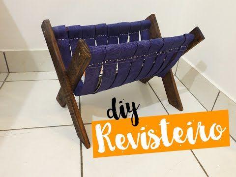 DIY Revisteiro com madeira de pallet - Ideias em Casa