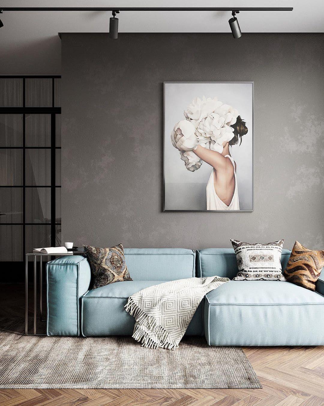 Minimal Interior Design Inspiration   203   Contemporary sofa, Contemporary living room, Living ...