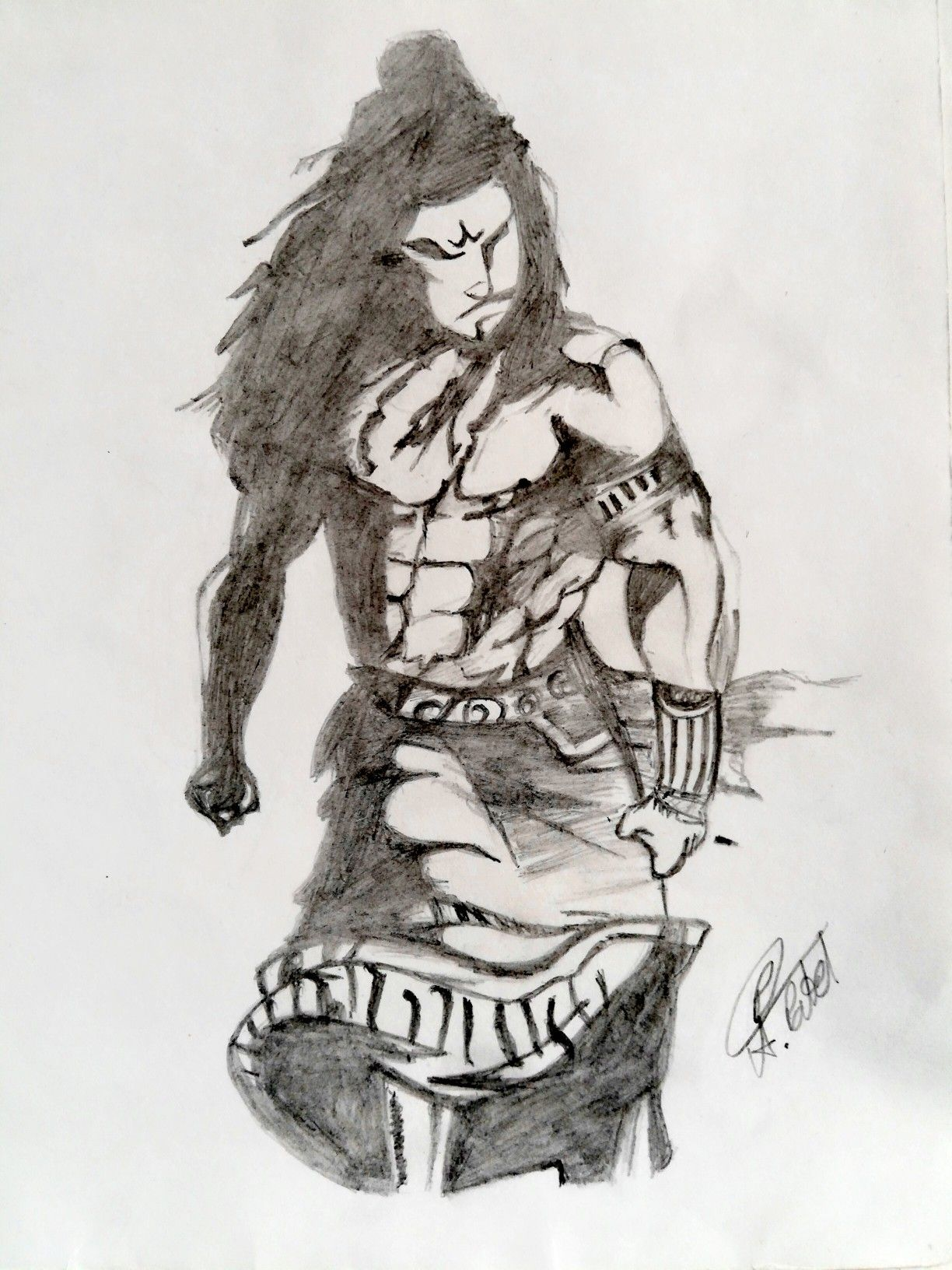 Aggressive shiva mahadev shivratri drawing art