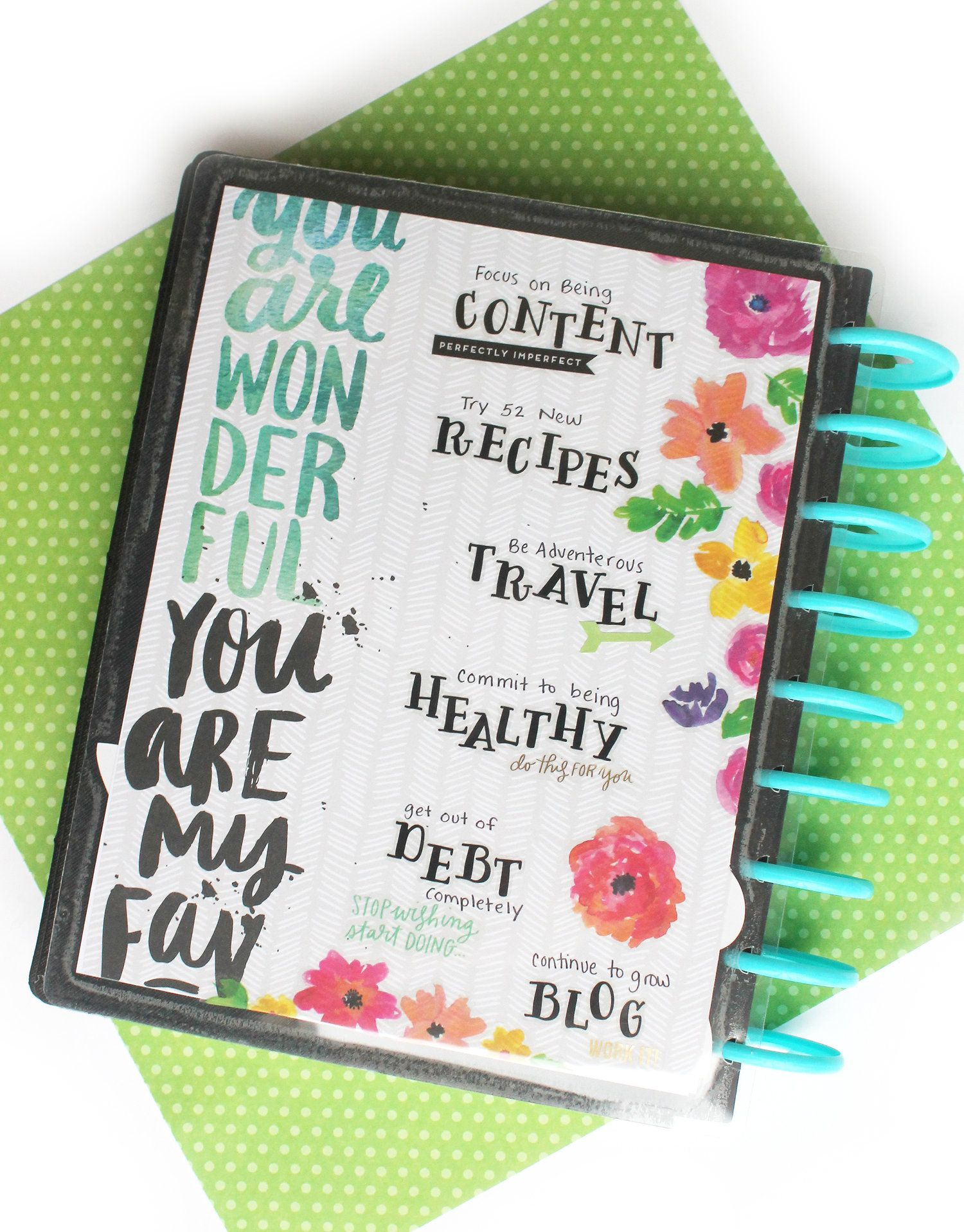 Diy 2017 Vision Board W The Happy Planner Custom Cover Pack Me My Big Ideas Happy Planner Happy Planner Cover Planner Addicts