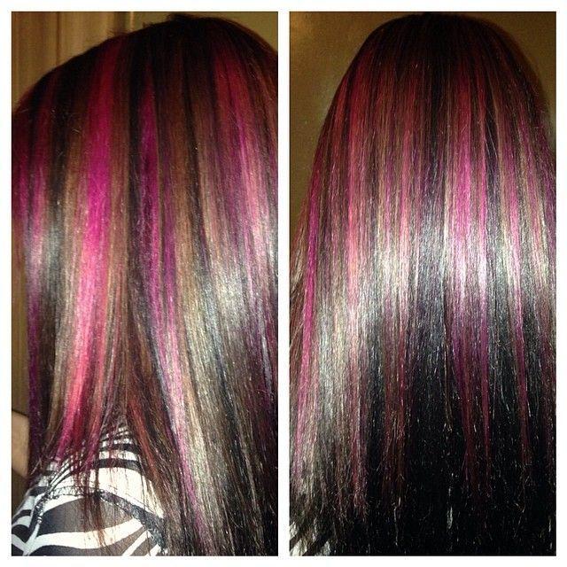 Love The Pink Highlights Hair Styles Pink Hair Highlights Hair