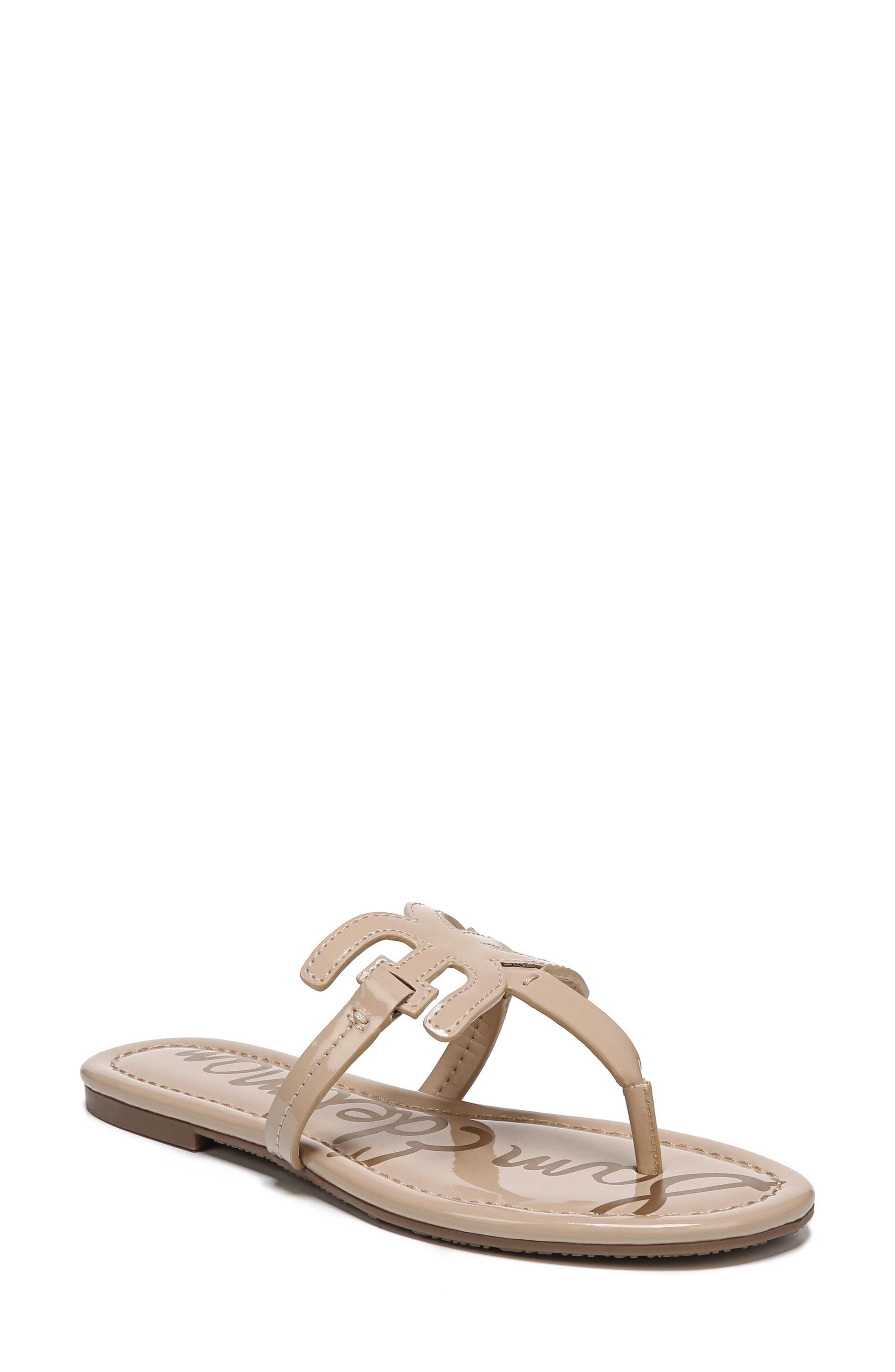 128431598b0 Sam Edelman Carter Thong (Women) Mirror image logos anchor the straps of a  resort-ready thong fitted with a comfortable