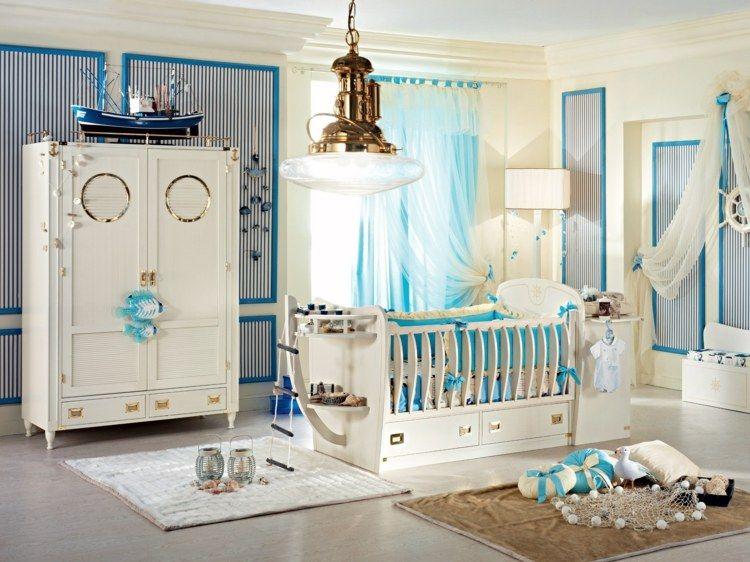 Nautisches Babyzimmer einrichten mit traumhaften Möbeln ...