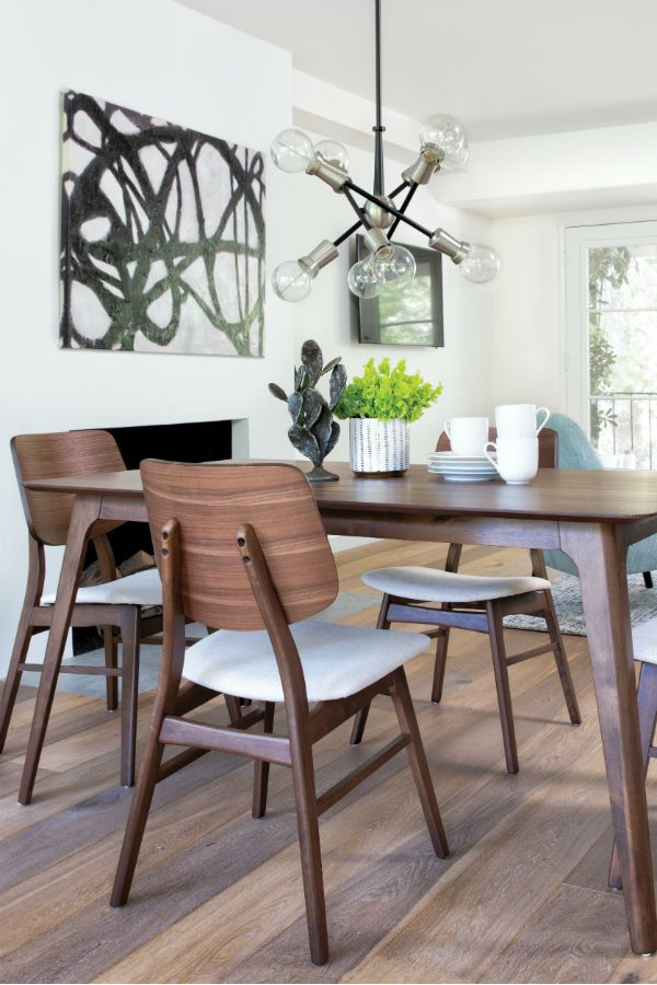 Mid Century Dining Set Perfect For Small Space Dining Our Carly 5 Piece Dining Mid Century Modern Dining Room Apartment Dining Room Mid Century Modern Dining