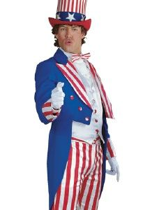 Deluxe Uncle Sam Costume - Perfect Red White and Blue outfit for ...