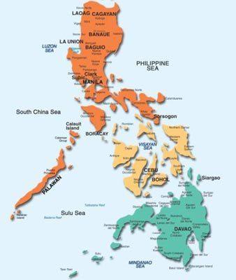 Our 3 Major Island Groups Luzon Orange Visayas Yellow And