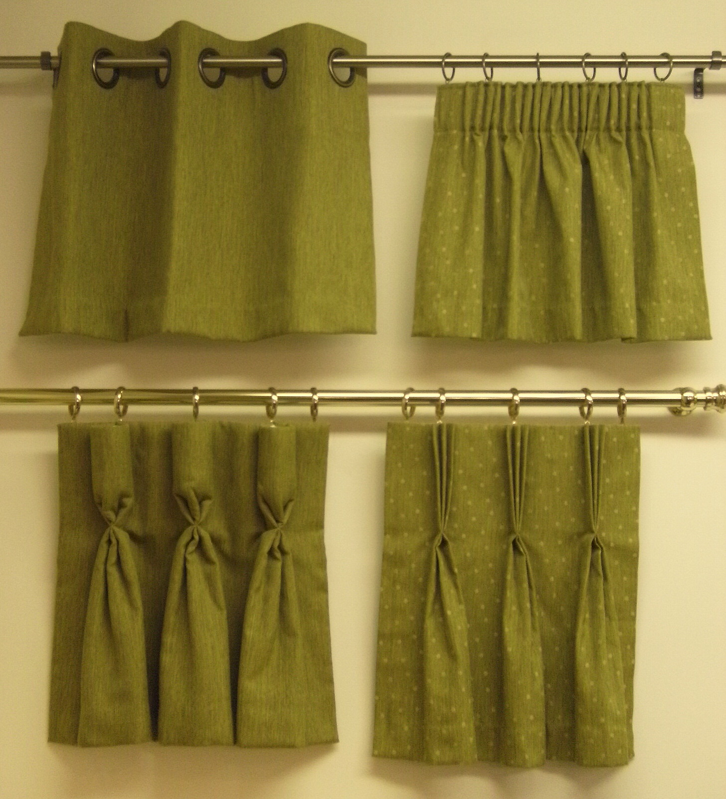 A Close Up Of Different Types Of Headings Curtain Styles No