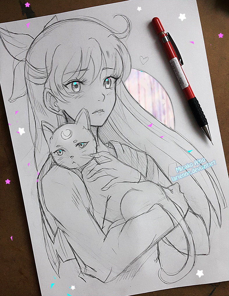 Photo of +Minako and Artemis+ by larienne on DeviantArt