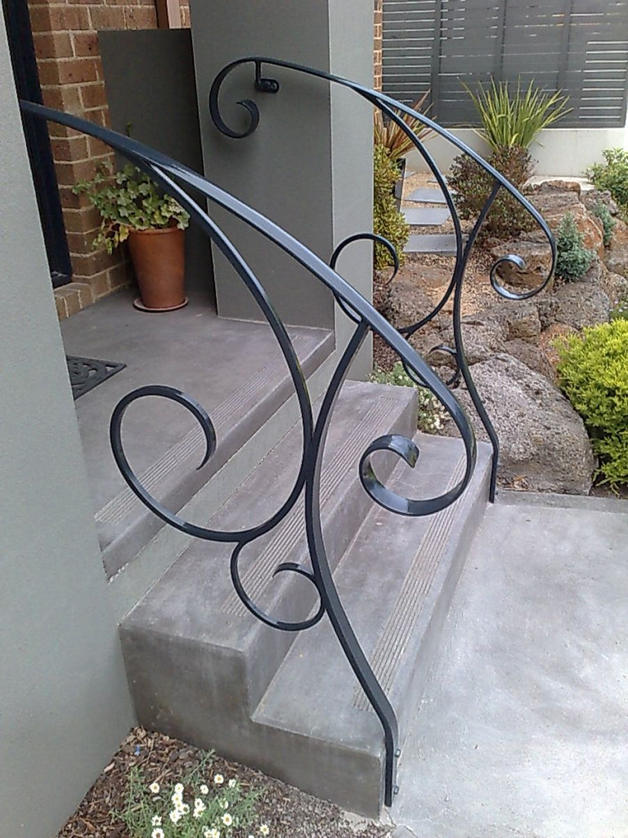 Best Outside Steps Railings Outdoor Wrought Iron Stair 640 x 480