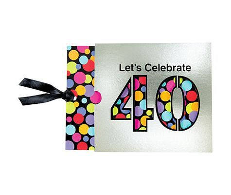 40th Birthday Jumbo Invitation
