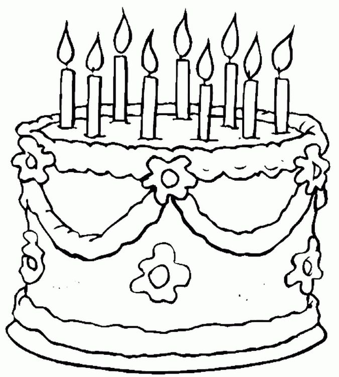 birthday party coloring pages - Bing Images | Birthday | Pinterest ...