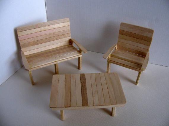 Puppenhaus Mini Harz Garten leisure Stuhl DIY Sand Tischmodell ZF