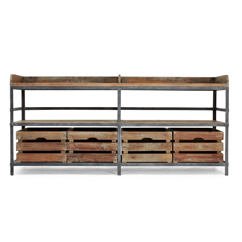 URBN 20 Reclaimed Pine Metal Sideboard Formal Dining RoomsWood