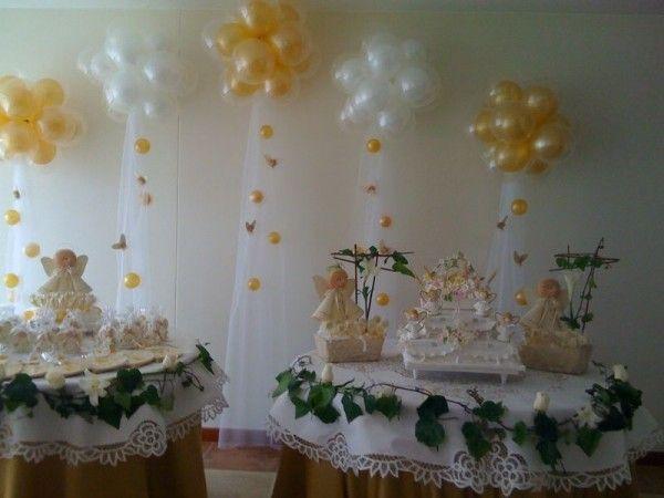 Pin de maria orozco en centros de mesa communion first - Decoracion fiesta comunion ...