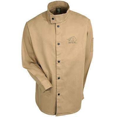 636b7e9ece16 Black Stallion Safety Men s BXTN9C Flame-Resistant Tan Welding Jacket